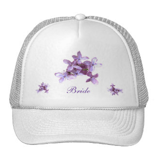 Floral Lilac Flowers Wedding Bride Hat