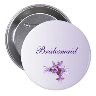 Floral Lilac Flowers Wedding Bridesmaid Pin