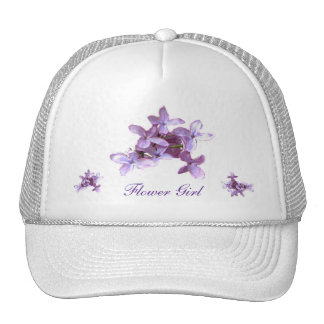 Floral Lilac Flowers Wedding Flower Girl Trucker Hat