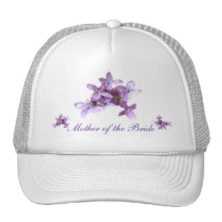 Floral Lilac Flowers Wedding Mother of Bride Hat