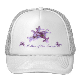 Floral Lilac Flowers Wedding Mother of Groom Hat