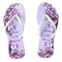 Floral Lilac Flowers Wedding Mother of the Groom Flip Flops