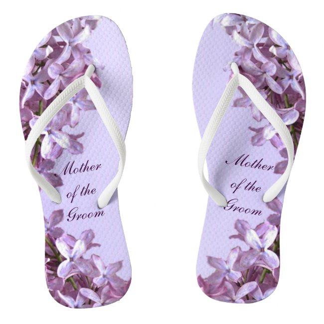 Floral Lilac Flowers Wedding Mother of the Groom