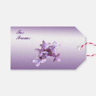 Floral Lilac Flowers Wedding Pack of Gift Tags