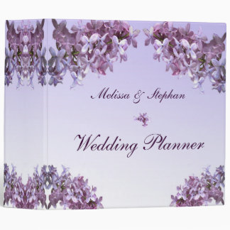 Floral Lilac Flowers Wedding Planner 3 Ring Binder