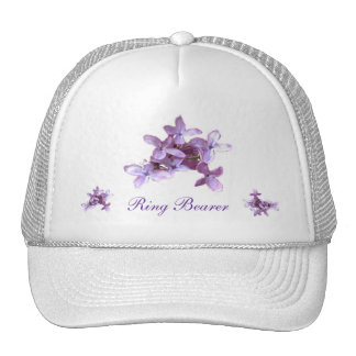 Floral Lilac Flowers Wedding Ring Bearer Trucker Hat