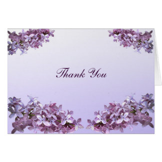 Floral Lilac Flowers Wedding Thank You Card