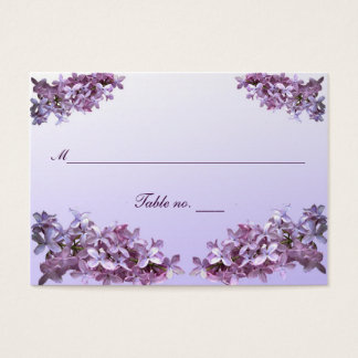 Floral Lilac Wedding Escort Card