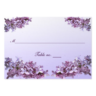 Floral Lilac Wedding Escort Card Large Business Cards (Pack Of 100)