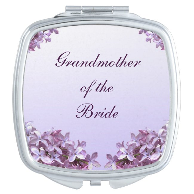 Floral Lilac Wedding Grandmother of Bride Mirror