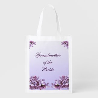 Floral Lilac Wedding Grandmother of the Bride Tote Market Totes