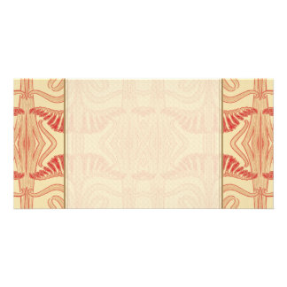 Floral Lilies Pattern - Red, Yellow, Orange Custom Photo Card