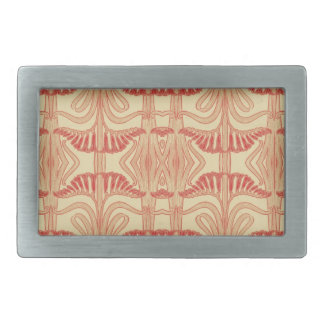 Floral Lilies Pattern - Red, Yellow, Orange Rectangular Belt Buckle