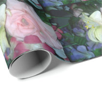 Floral Lily and Rose Wrapping Paper