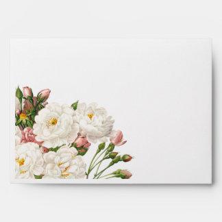 floral lindo, casando la invitación, invitaciones sobres