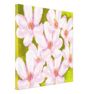 Floral lindo, estilo de la acuarela impresión en lona estirada