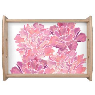 Floral lindo, peony, estilo japonés bandeja