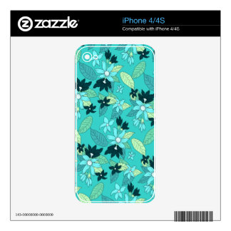 Floral line pattern decal for the iPhone 4