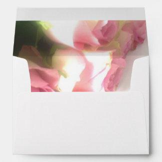 Floral liner envelopes | Pink roses flower photo