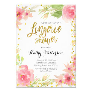 Pink Lingerie Shower Invitations Announcements Zazzle
