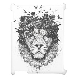 Floral lion (blackandwhite) cover for the iPad 2 3 4