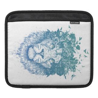 Floral lion iPad sleeve