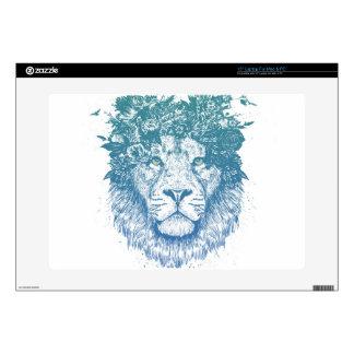 Floral lion laptop skin