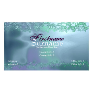 Floral Liquid Aqua Business Card