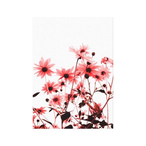 floral lona estirada galerías