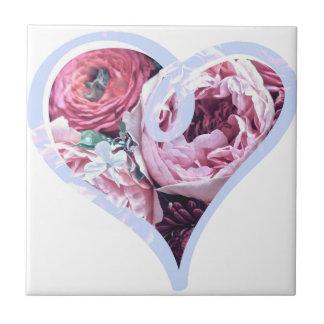 Floral Love Ceramic Tile