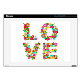 floral love decals for laptops