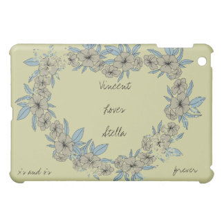 Floral Love Heart Personalized  Case For The iPad Mini