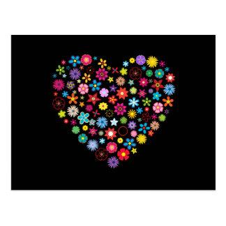 Floral Love Heart Postcard