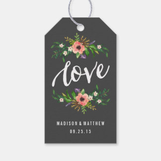 Floral Love in Slate | Wedding Gift Tags