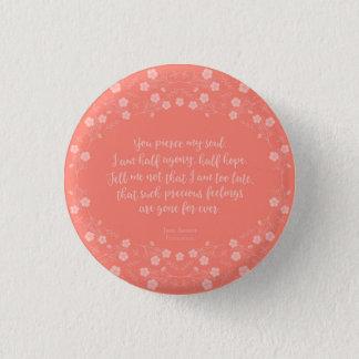 Floral Love Letter Quote Persuasion Jane Austen Button