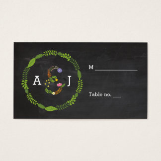 Floral LOVE Letters Rustic Wedding Escort Cards