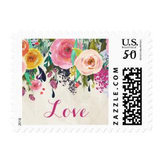 Floral Love Postage Stamp
