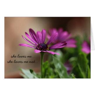Floral Love! she loves me, she loves me not.. Card