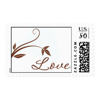 "Floral ""Love"" stamp (chocolate brown)"