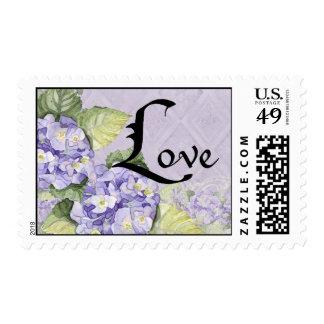 Floral Love Wedding Postage Lilac Hydrangea Swirl