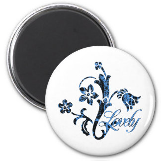 Floral Lovely Flourish 2 Inch Round Magnet