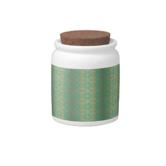Floral luxury royal antique pattern candy jars