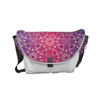 Floral luxury royal antique pattern small messenger bag