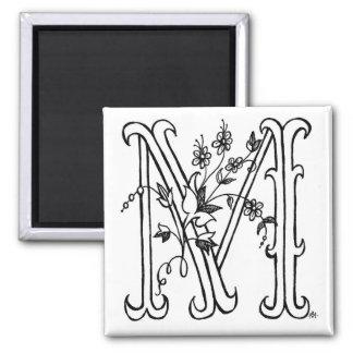 Floral M Magnet