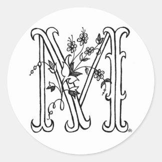 Floral M Sticker