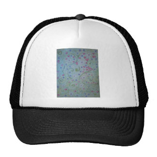 floral magic of love and creation sketch trucker hat