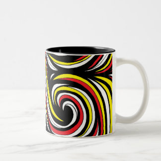 Floral Magnificent Radiant Floral Two-Tone Coffee Mug
