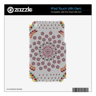 Floral Mandala 3 iPod Touch 4G Decals