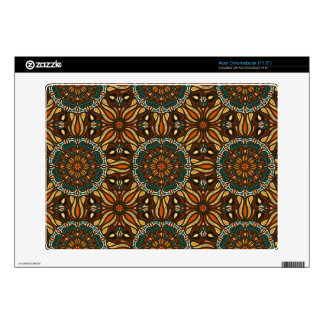 Floral mandala abstract pattern design acer chromebook decal