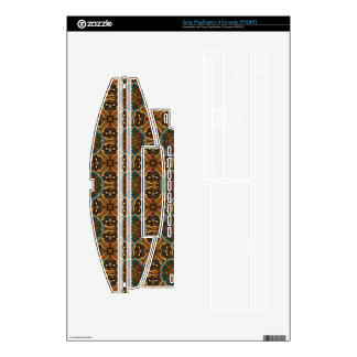 Floral mandala abstract pattern design decal for PS3